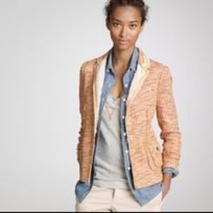 J.Crew Collection Lollipop Tweed Jacket Orange